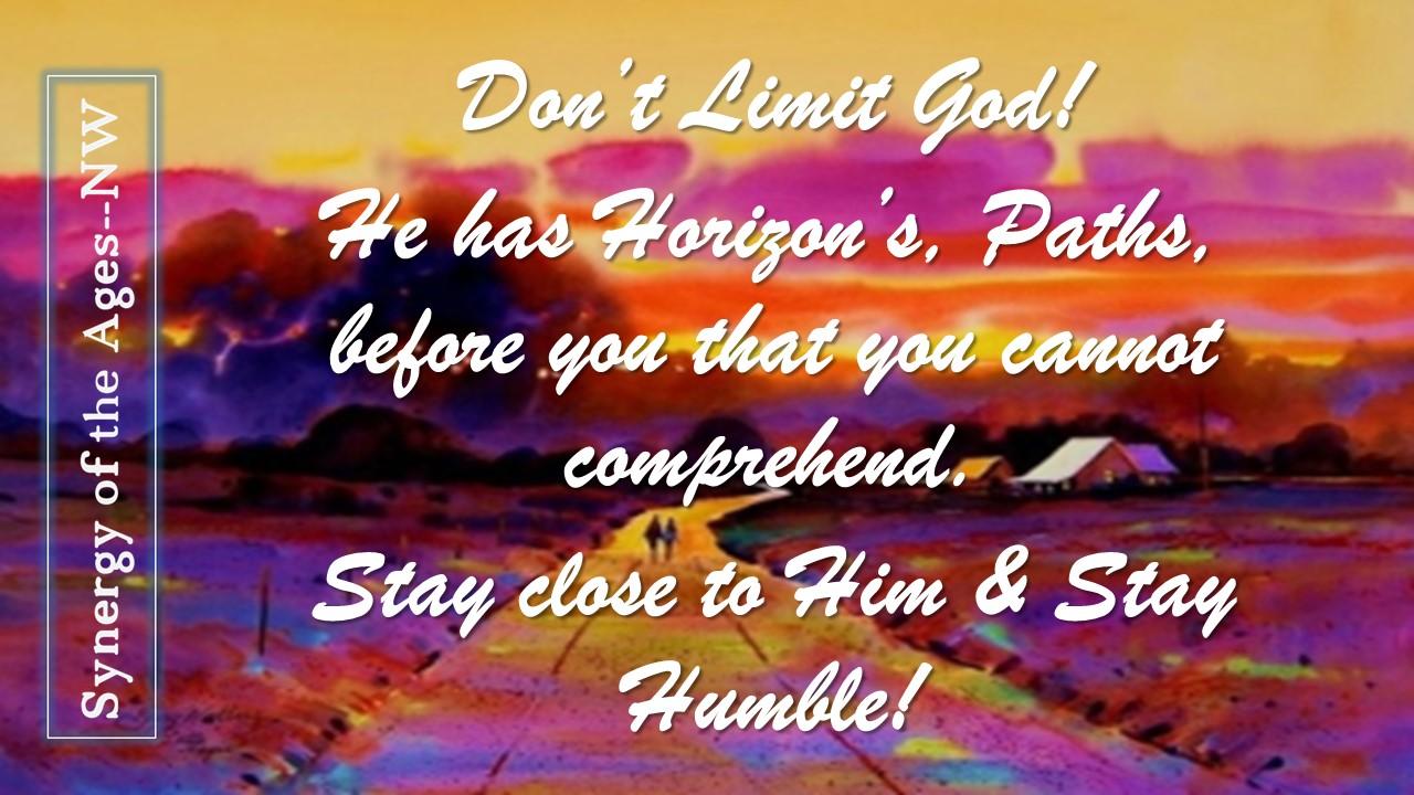 6-22-18 dont limit God